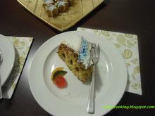 Χριστουγεννιάτικο κέικ με γλάσο ινδοκάρυδου