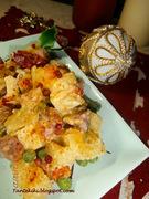 Πατατοσαλάτα με λαχανικά, λουκάνικα και σαλάμι αέρος