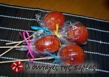 Κόκκινα καραμελωμένα μηλαράκια