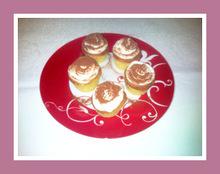 Cup cakes tiramisu