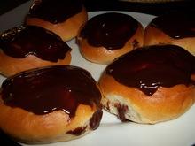 Ντόνατς στο φούρνο με μερέντα και σοκολάτα