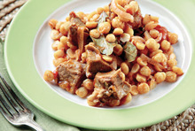 Lamb stew with chickpeas
