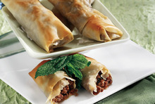 Flute pies filled with minced meat