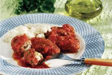 Smyrna style meatballs (soutzoukakia smyrneika)